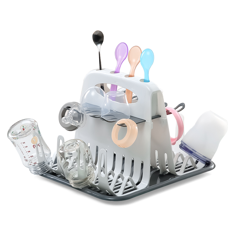 Baby Bottle Drying Rack  with Tray High Capacity Cup Holder for Infant Feeding Accessories BPA Free Deluxe Dry Station