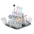 Baby Bottle Drying Rack  with Tray High Capacity Cup Holder for Infant Feeding Accessories BPA Free Deluxe Dry Station preview-1