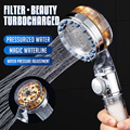 2021 Pressurized Nozzle Turbo Shower Head One-Key Stop Water Saving High Pressure Shower Head Magic Water Line Bathroom Accessor preview-5