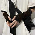 Fashion Women Lady Striped Elbow Gloves Warmer Knitted Long Fingerless Gloves Elbow Mittens Christmas Accessories Gift preview-6