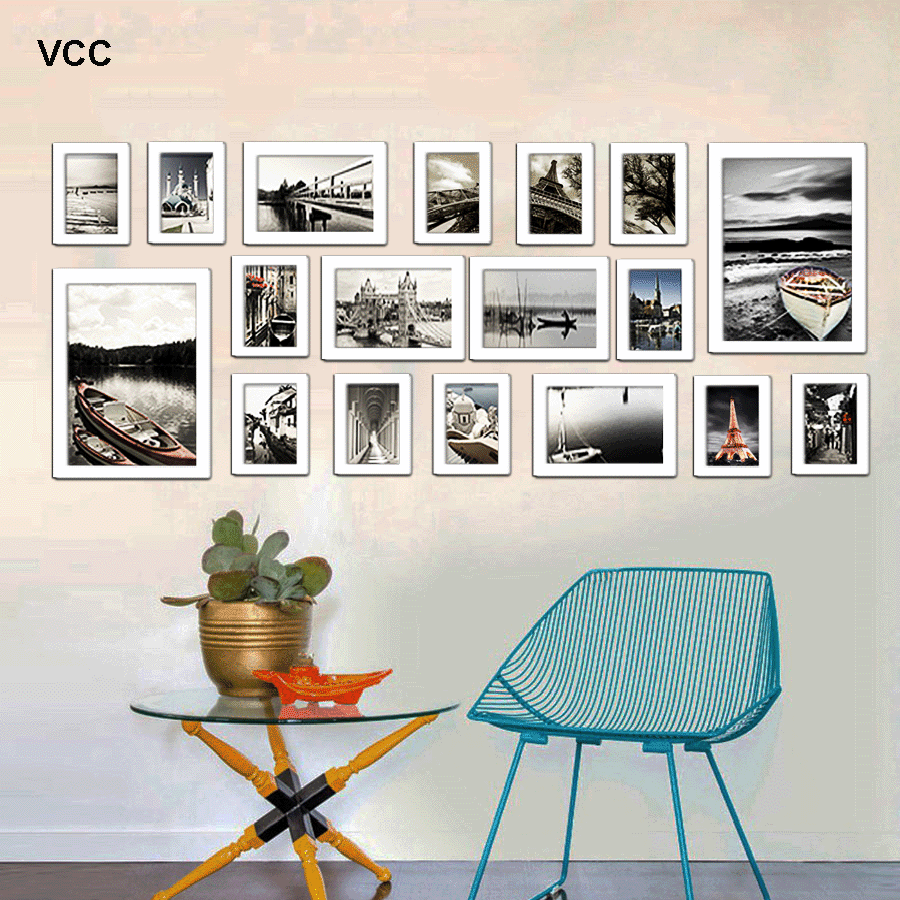 18Pcs/Set Wood Picture Frames For Wall Hanging, Photo Frame Wall With Pictures Classic Wooden Frame For Home Decoration preview-6