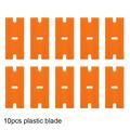 10pcs orange blade