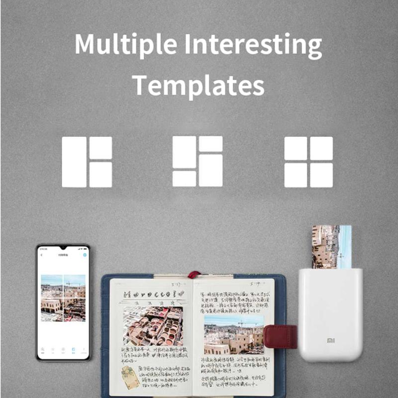 Global Version Xiaomi mijia AR Printer 300dpi Portable Photo Mini Pocket With DIY Share 500mAh picture pocket printer preview-3