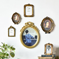 6/7 Inches European Style Vintage Golden Carved Resin Photo Frame Picture Frame Retro Art Home Decoration Ornaments preview-1