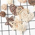 Photogragh Background Artificial Rattan Star Heart Straw Ornament Pendant Wedding Home Christmas Decoration Photo Props preview-5