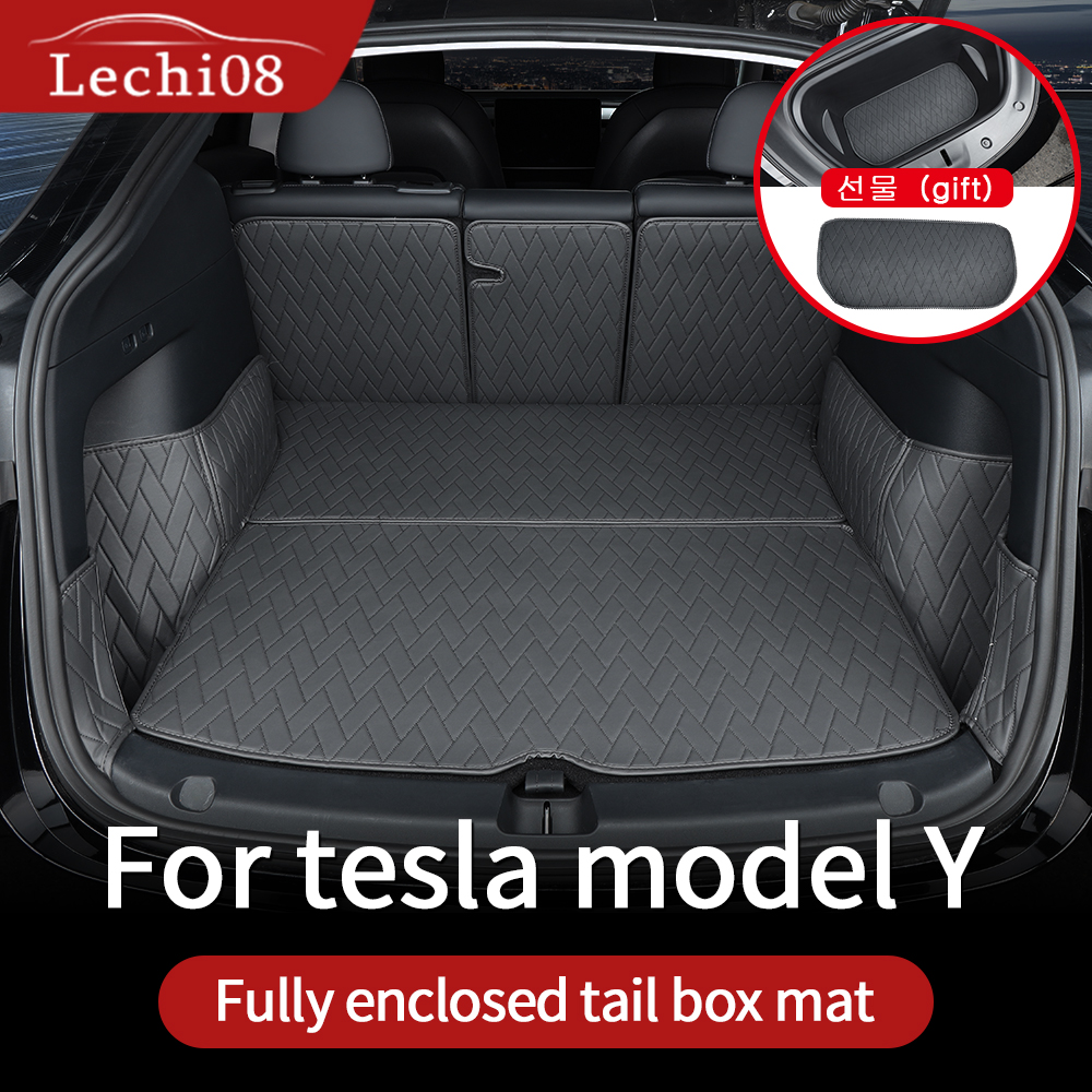 Leather trunk For Tesla model y trunk mat accessories model Y tesla Y accessoires All-inclusive back box cushion 7pcs/set preview-7