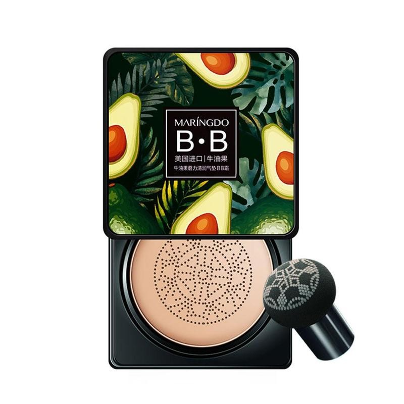 Avocado BB Cream Air Cushion Face Foundation Mushroom Head Concealer Whitening Base Makeup Cosmetic Waterproof Brighten 2021 New
