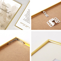 Modern Gold Aluminum Photo Pictures Frames 40x50 30x40cm A4 21x30 cm Wall Mounting with Mat for Poster Canvas Prints Home Decor preview-5