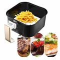 100pcs 7/8/9 Inch Air Fryer Liners Perforated Non-stick Mat Steaming Baking Cooking White Pot Oil Paper Accessories preview-3