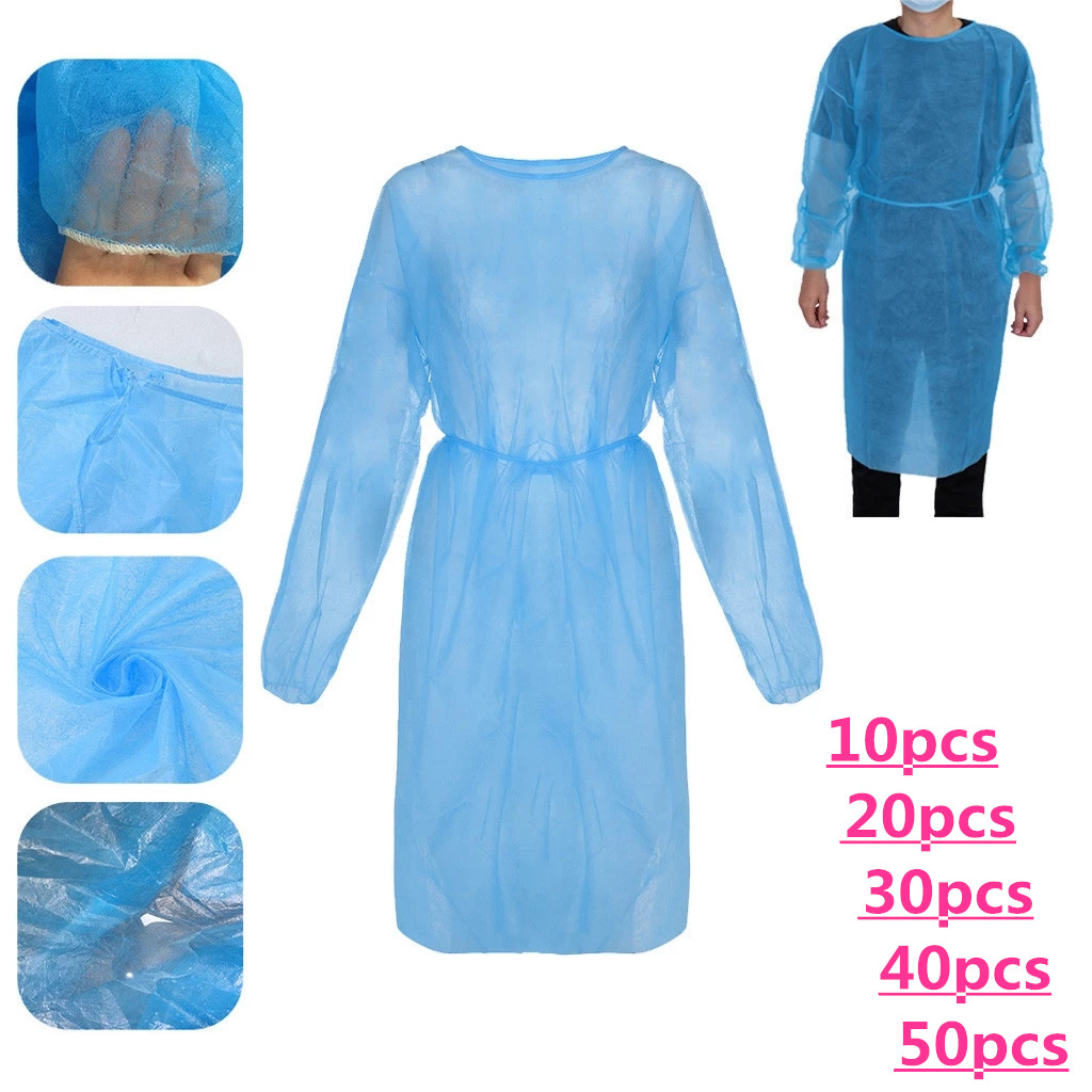 10/20/30/40/50PCs disposable protective isolation clothing, drop-proof, waterproof, oil-proof, protective clothing for nurses