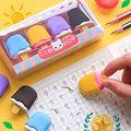 Sharkbang 4PCS Kawaii Ice Cream Hamburger Lollipop Detachable Rubber Eraser For Kids Gift Correction Tool School Stationery preview-4