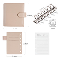 Moterm Luxe Series Pocket Planner A7 Size Notebook with 30 MM Silver Rings Mini Agenda Organizer Cowhide Diary Notepad preview-2