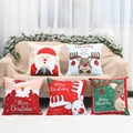 Merry Christmas Cushion Cover Santa Claus Elk Christmas Decoration For Home 2021 Christmas Ornaments Natal Navidad New Year 2022 preview-3