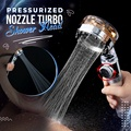 2021 Pressurized Nozzle Turbo Shower Head One-Key Stop Water Saving High Pressure Shower Head Magic Water Line Bathroom Accessor preview-1