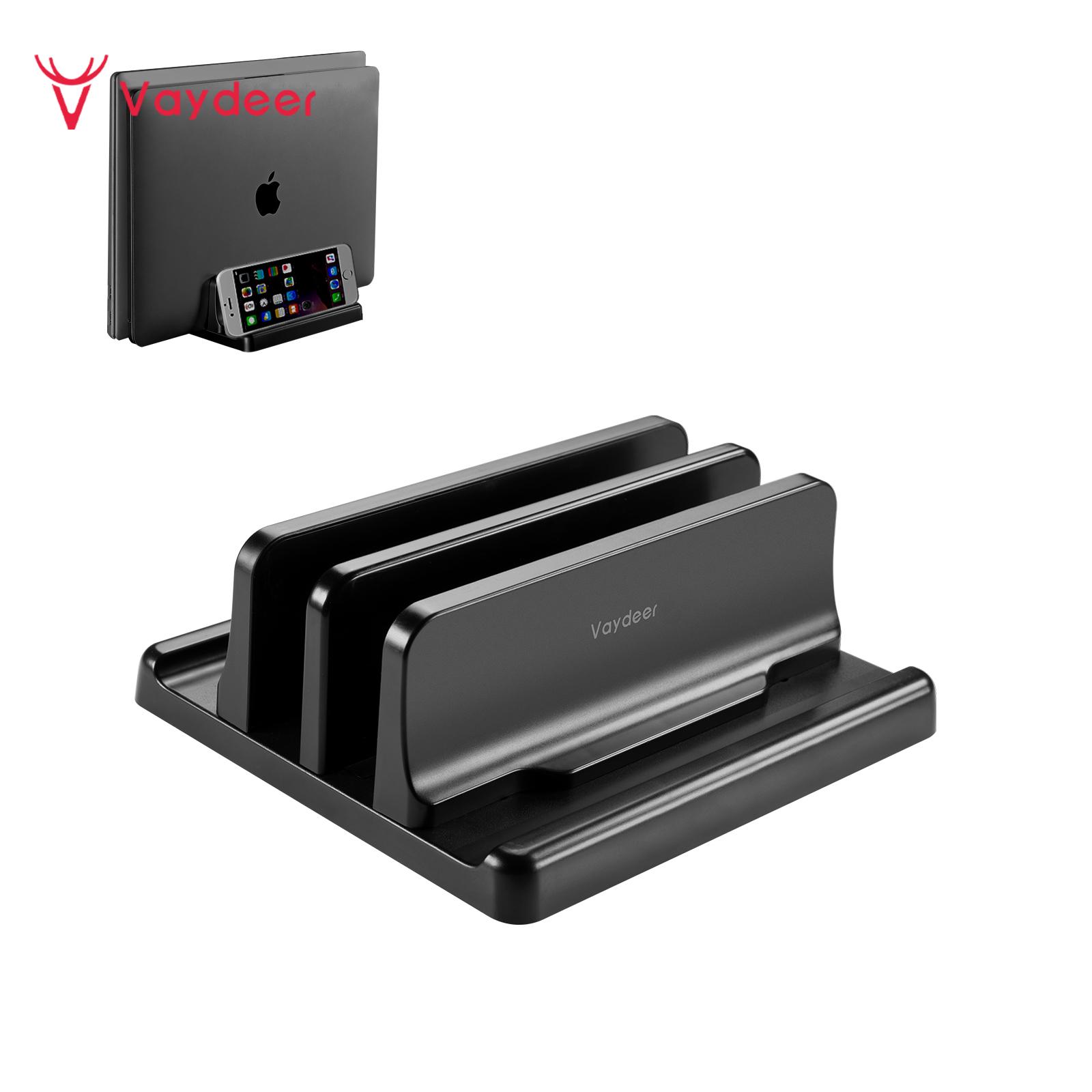 Vaydeer Plastic Vertical Laptop Stand Holder Adjustable Desktop Notebook Dock Space-Saving 3 In 1