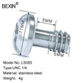 BEXIN ringless 1/4 screw is made of iron or stainless steel for Quick release plate DSLRS camera photography tripod preview-6
