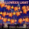 Halloween Decoration Thanksgiving Decor Pumpkin Light, Lighted Garland Battery Garland Home Indoor Outdoor Decor Halloween Maple preview-4