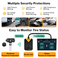 Deelife Android TPMS for Car Radio DVD Player Tire Pressure Monitoring System Spare Tyre Internal External Sensor USB TMPS preview-3