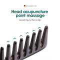 MR.GREEN Natural Wood Comb Wide Tooth Wet  Hair Combs Anti-Static Styling Comb for Long Hair Head acupuncture point massage preview-3