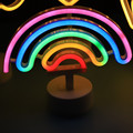 Neon Sign USB LED Decoration Unicorn Flamingo Lamp Moon Rainbow For Home Kid Room Bedside Night Light Decor Light For Children preview-3