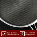 KOBACH frying pan 26cm honeycomb nonstick pan 304 stainless steel frying pan kitchen nonstick skillet frying pan with lid preview-3