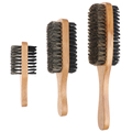 Men Boar Bristle Hair Brush - Natural Wooden Wave Brush for Male, Styling Beard Hairbrush for Short,Long,Thick,Curly,Wavy Hair preview-1