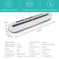 Best Electric Vacuum Sealer Machine Automatic Food Vacuum With 10pcs Food Saver Bags Household Packaging Machine preview-6