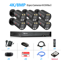 8CH NVR and 6 Camera