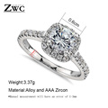 Fashion Luxury Crystal Engagement Ring for Women AAA White Cubic Zirconia Silver color Rings 2020 Wedding Trend Female Jewerly preview-5