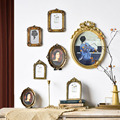 6/7 Inches European Style Vintage Golden Carved Resin Photo Frame Picture Frame Retro Art Home Decoration Ornaments preview-2