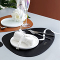 Tableware Pad Placemat Table Mat  PU Leather Heat Insulation Non-Slip Simple Placemats Disc Coaster Placemat for Dining Table preview-3