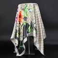 Luxury Brand Scarf Women Fashion Designer Beautiful Foulard Soft Satin Shawl Silk Kerchief 90*90cm Square Neck Headscarf Bandana preview-3