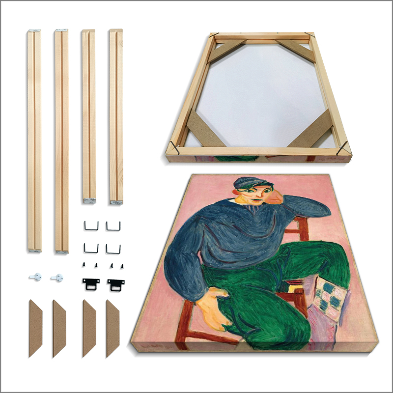 Solid Wood Picture Frame Painting Factory Provides PictureWall DIY Picture Framed 60x50 50x40 40x30 CM