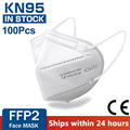 100 pieces KN95 face mask 5 layer filter dust port PM2.5 mascarillas FFP2 Nonwoven health Protective N95 mask fast delivery preview-1