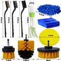 Detailing Brush Set Car Cleaning Brushes Power Scrubber Drill Brush For Car Leather Air Vents Rim Cleaning Dirt Dust Clean Tools preview-3