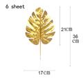 6 pcs  gold leaf D