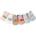 Newborn baby winter anti slip socks toddler boys girls children kids cotton warm cute animal fox sock infant short Cartoon socks preview-6