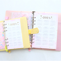 2021 new macaron office school spiral notebooks stationery,cute personal binder weekly planner agenda organizer,rose gold,A5A6 preview-3