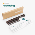 MR.GREEN Natural Wood Comb Wide Tooth Wet  Hair Combs Anti-Static Styling Comb for Long Hair Head acupuncture point massage preview-6