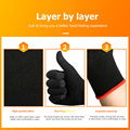 2pcs Hand Cover Game Controller for PUBG Sweat Proof Non-Scratch Sensitive Touch Screen Gaming Finger Thumb Sleeve Gloves preview-5