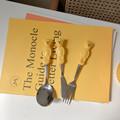 Cute Bear Spoon Fork Ceramic Dessert Spoons Dinnerware Cutleries Cartoon Spoon Fork Butter Kinfe Set preview-4