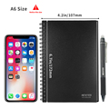 NEWYES A6 size Smart Reusable Erasable Notebook Microwave Wave Cloud Erase Notepad Note Pad Lined With Pen save paper preview-2