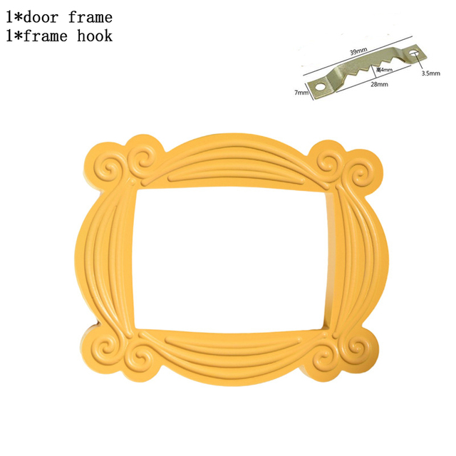 zk30 TV Series Friends Handmade Monica Door Frame Wood Yellow Photo Frames Collectible for Home Decor