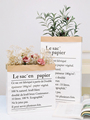 Photo Studio Props Double Layer Paper Thickening Kraft Paper Bags &Simulation Leaf Fake Foliage for Photography Background Items preview-2