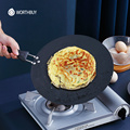WORTHBUY 30cm Non-Stick Iron Saucepan Egg Pancake Pan For Breakfast Steak Omelette Frying Pan Kitchen Non-Stick Cookware Pan preview-1
