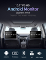10.1 inch Android Car Headrest Monitor RAM 2GB 1080P video IPS Touch Screen 4G WIFI/Bluetooth/USB/SD/FM MP5 Video Player with DC preview-1