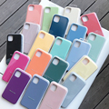 Original Official Liquid Case For iPhone 11 12 13 Pro X XR XS SE 2020 Case For iPhone 12 Pro Max 7 8 Plus Full Coque Capa Cover preview-1