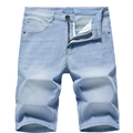 2020 Summer New Men's Denim Shorts Classic Black Blue Thin Section Fashion Slim Business Casual Jeans Shorts Male Brand preview-5