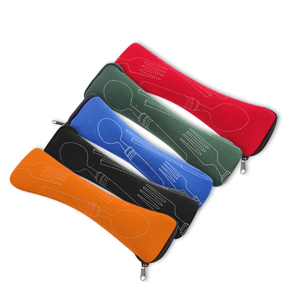 1PC Tableware Bag Washable with Zipper Travel Cutlery Kit Case Portable Pouch For Dinner Travel Camping Tableware Household Tool