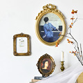 6/7 Inches European Style Vintage Golden Carved Resin Photo Frame Picture Frame Retro Art Home Decoration Ornaments preview-3